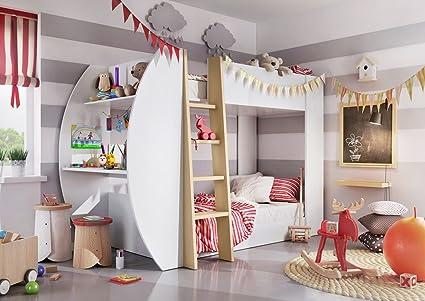 Marca nuevo Kids Niños litera cama Jerry con colchones, almacenamiento y escritorio para ordenador se
