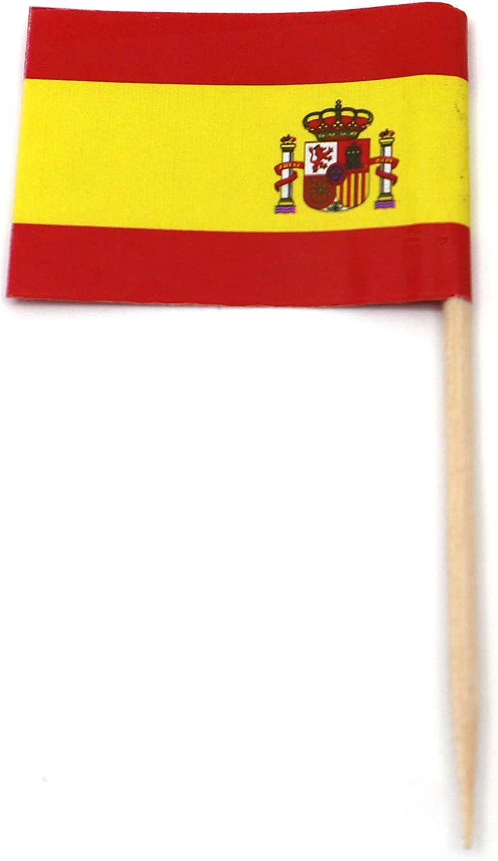 Banderas de España para decoración de cupcakes, diseño de bandera de España: Amazon.es: Hogar