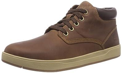 d8d90443369 Timberland Unisex Kids' Davis Square Chukka Boots, Brown (Mocha Bisque  Saddleback 855)