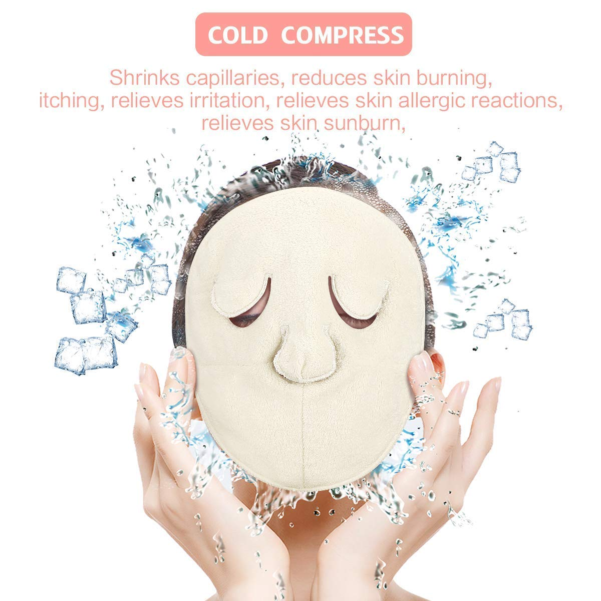 Face Towel Mask Reusable Face Steamer Towel Hot and Cold Compress Moisturizing Anti Anging Skin Rejuvenation Facial Skin Care Mask
