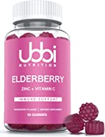 Ubbi Nutrition Elderberry Gummies - Vegetarian - Natural Ingredients - Better