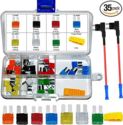 FREE SAME DAY SHIPPING! 50 PACK 25 AMP ATS//ATC MINI BLADE 12V AUTOMOBILE FUSE