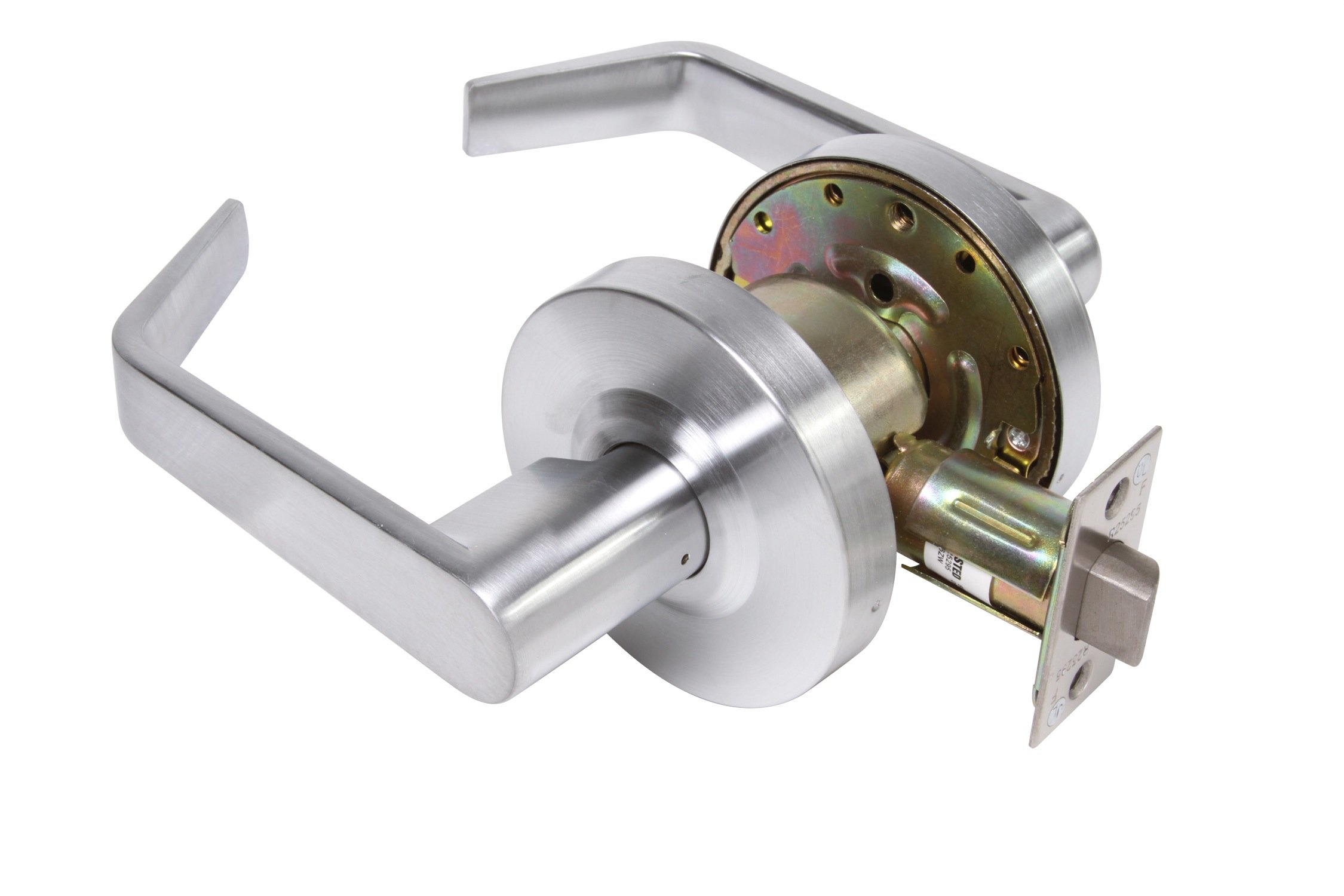 Legend 809076 Grade 2 Commercial Duty Passage Hall and Closet Leverset Lockset, US26D Satin Chrome Finish by Legend
