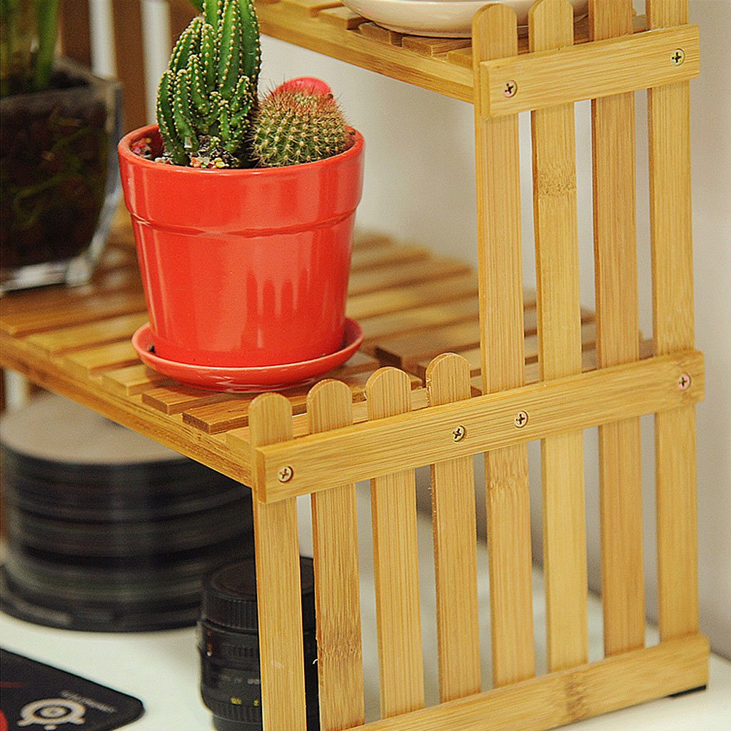 Solid Wood Flower Stand Suitable For Living Room Balcony Computer Desk | 3 Size (Size : 262130cm) by TY BEI (Image #6)