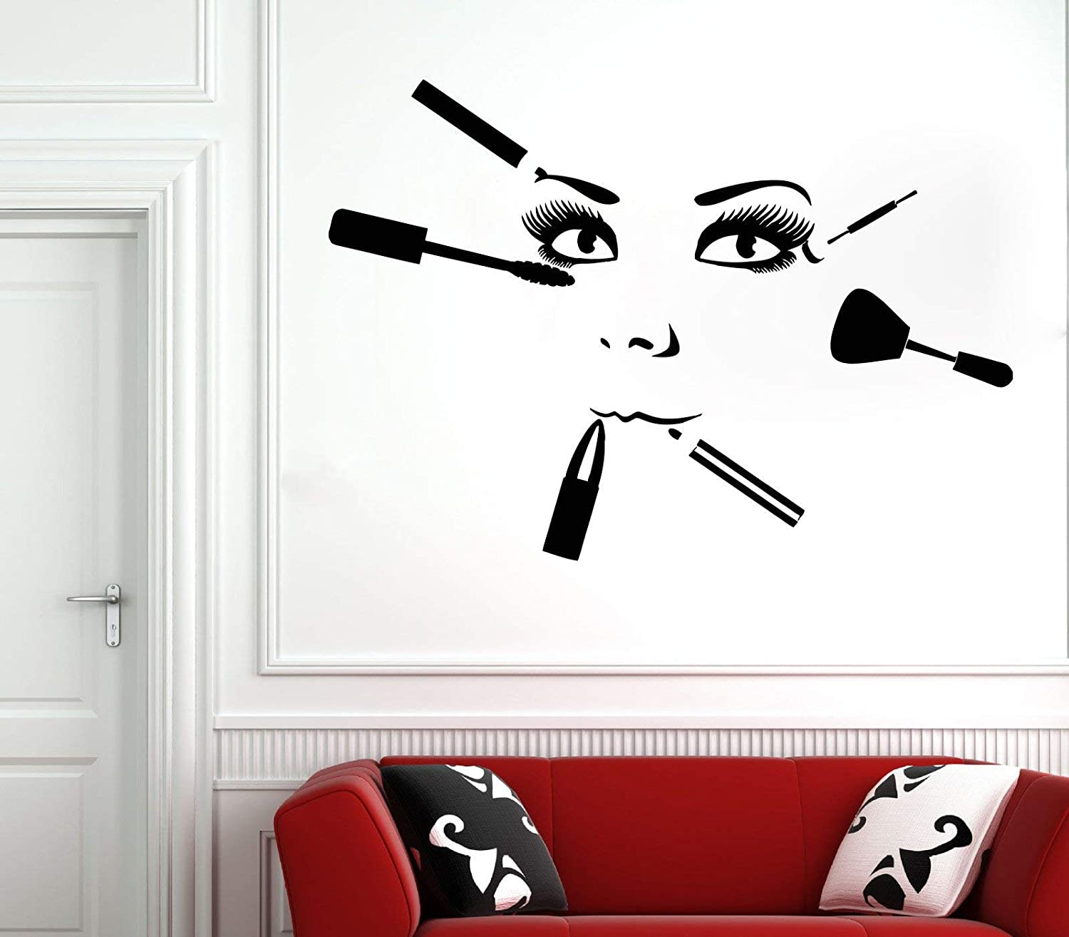 Hair Salon Wall Stickers Hairdressing Transfers Graphic Beauty Decor Stencil Art