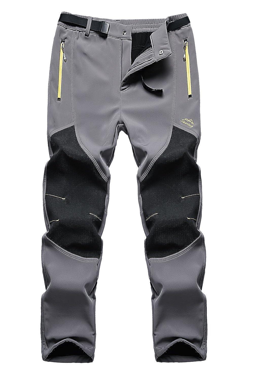 FunnySun Men's Outdoor Water Resistant Windproof Fleece Snow Hiking Pants FS-US16606M