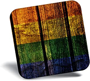 Destination Vinyl ltd Awesome Fridge Magnet - Awesome Gay Pride Flag Wooden 14354