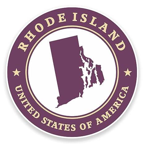 2 x 10 cm Rhode Island USA Pegatina de Vinilo Para Ordenador Portátil Coche Viaje Equipaje