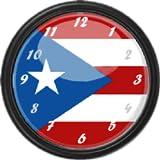 Puerto Rico Flag Clock Widget