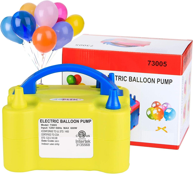 Balloon Column Stand VABNEER Electric Balloon Pump Portable Dual Nozzle Air Balloon Pump Electric Balloon Air Blower Balloon Inflator for Balloon Arch Party Decoration 110V 600W