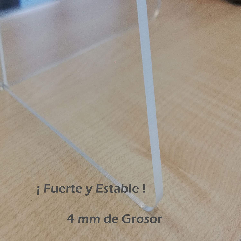 Mampara de Protección Metacrilato 100X70cm Resistente! Ventanilla y 4mm Grosor
