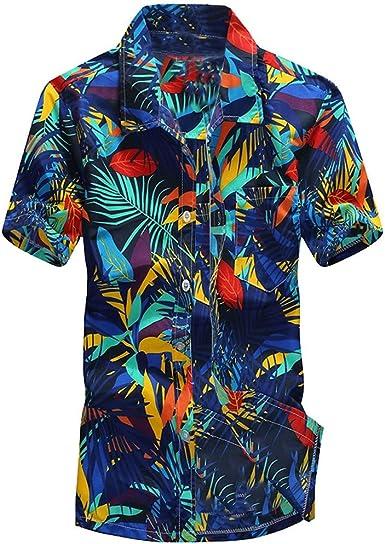 Camisas Hawaianas Hombre Camisas Hombre Manga Corta Tallas Grandes Camisas Estampadas Camisas de Flores Camisas Fiesta Camisas Playa Verano Vacaciones Tops Casual T Shirt Hombre: Amazon.es: Ropa y accesorios