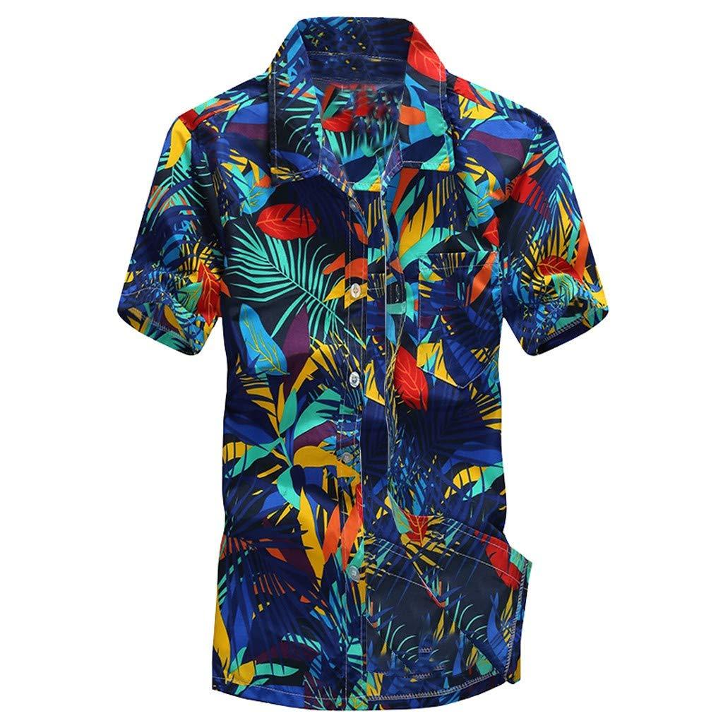Camisetas para Hombre Rovinci Verano Hawaiano Impreso Manga Corta Deportes Ropa de Playa Casual Blusas de Secado rápido Tops Camisas: Amazon.es: Ropa y ...