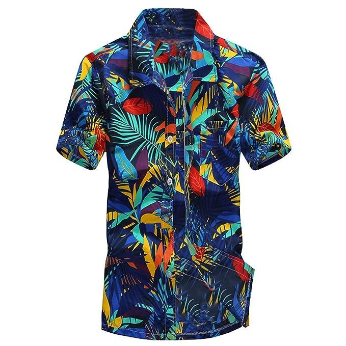 Sencillo Vida Camisa Hombre Estampada Casual De Manga Corta Camisas de  Hombre Impresión Hawaiana Verano Regular Fit Camisa Clásico Básico Botones  para ... 6697a363ee3