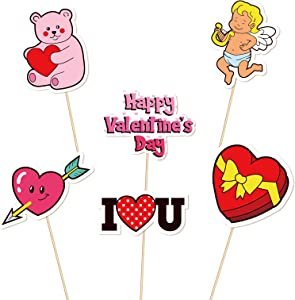Valentine's Day Cupcake Toppers Decorations - Food Picks Appetizers Toothpicks Sticks V-Day Dinner Party Supplies 144Ct