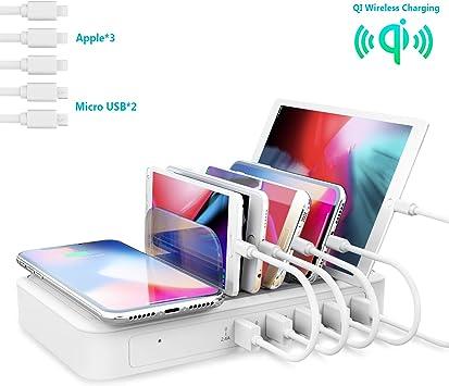 TechDot Estación de Carga USB teléfonos móviles, Smartphones ...