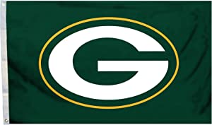 Fremont Die NFL Green Bay Packers 3' x 5' Flag with Grommets, 3 x 5-Foot, Logo