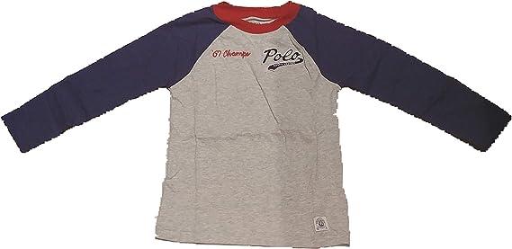 Polo Ralph Lauren - BBALL tee TP TSH - Camiseta Manga Larga NIÑO Dibujo Espalda: Amazon.es: Ropa y accesorios