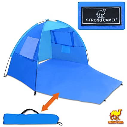dcd0909ee21d Image Unavailable. Image not available for. Color  Strong Camel POP UP  Potable Beach Shelter Tent Camping Sun Shade Outdoor Canopy ...
