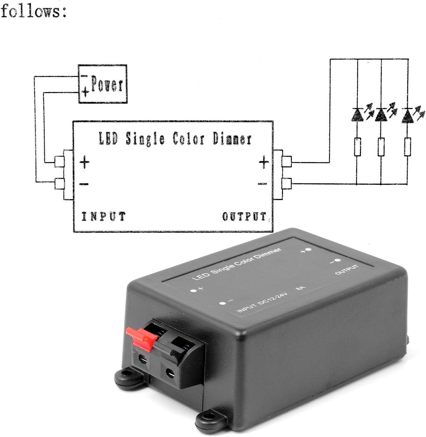 Regler 110v-230v rgb führte hellen Dimmer mit Fernbedienung für geführtes