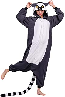 Pijama Animados Kigurumi Cosplay Lémur de Cola Anillada Animal para Adulto Unisex