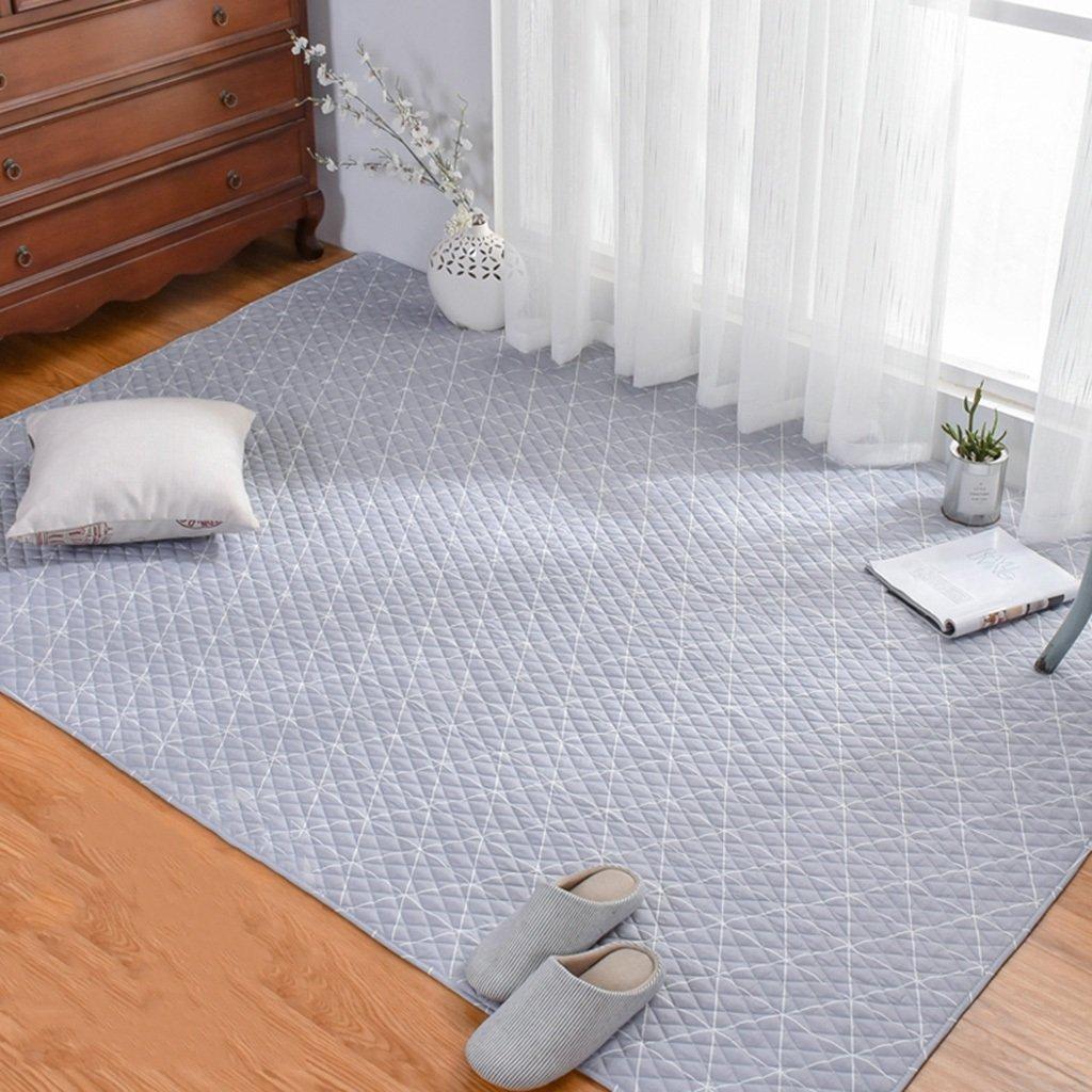 Gray Cotton Geometric Pattern Household Tatami Crawling mat Machine Washable Washable