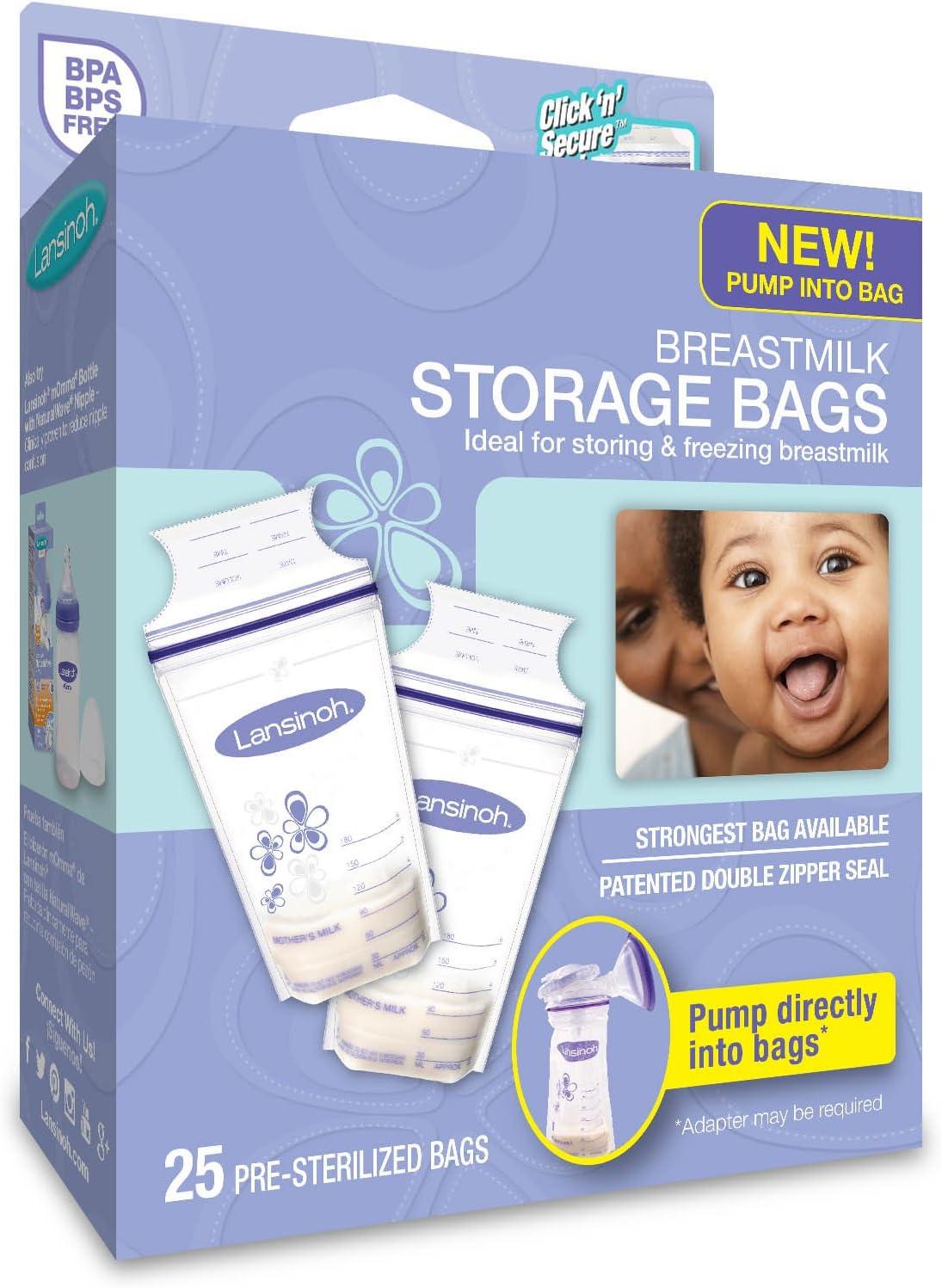 Lansinoh Breastmilk Storage Bags, 25 Count