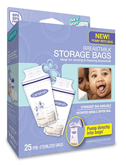 Lansinoh Breastmilk Storage Bags, 25 Count