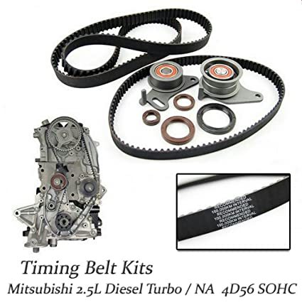 Amazon.com: NEW OEM Timing Belt Kits For Mitsubishi Montero Pajero Delica L300 2.5 4D56 Diesel NA/TD: Automotive