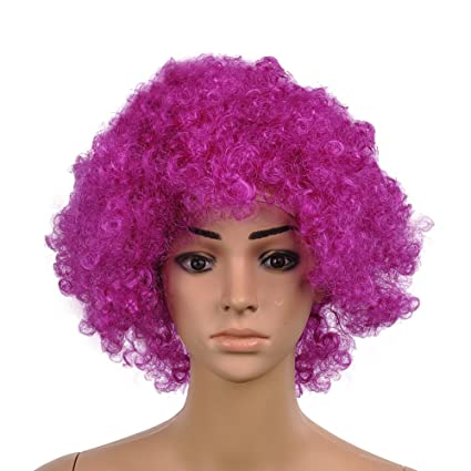 Rejoicing Peluca para cosplay, pelo rizado, para Halloween, disfraces, peluca, peluca