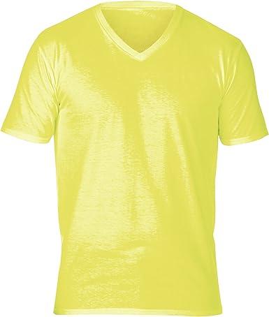 Gildan - Camiseta de manga corta y cuello pico Modelo Premium ...