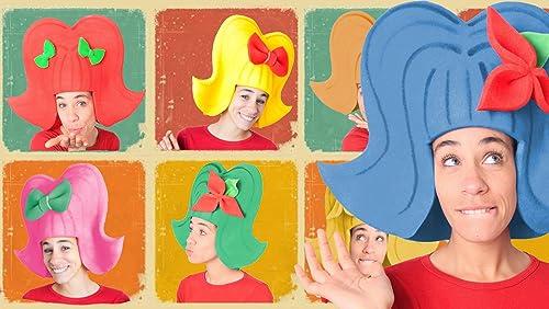 Pack 7 pelucas años 60 en colores: Amazon.es: Handmade