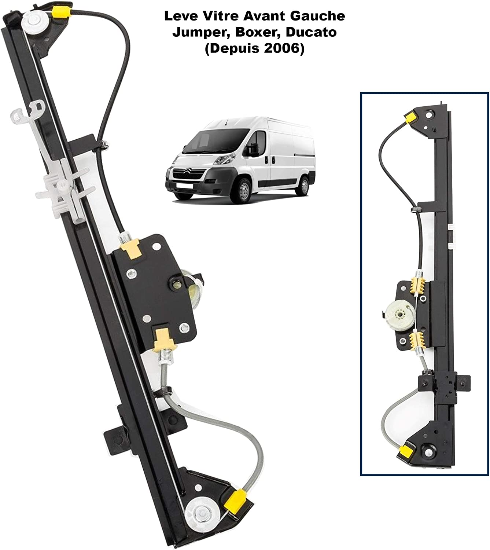 APDISTRIBUTION Mecanisme de Leve Vitre Electrique sans Moteur Avant Gauche Chauffeur Conducteur pour Boxer Jumper Ducato apr/ès 2006 1340453080