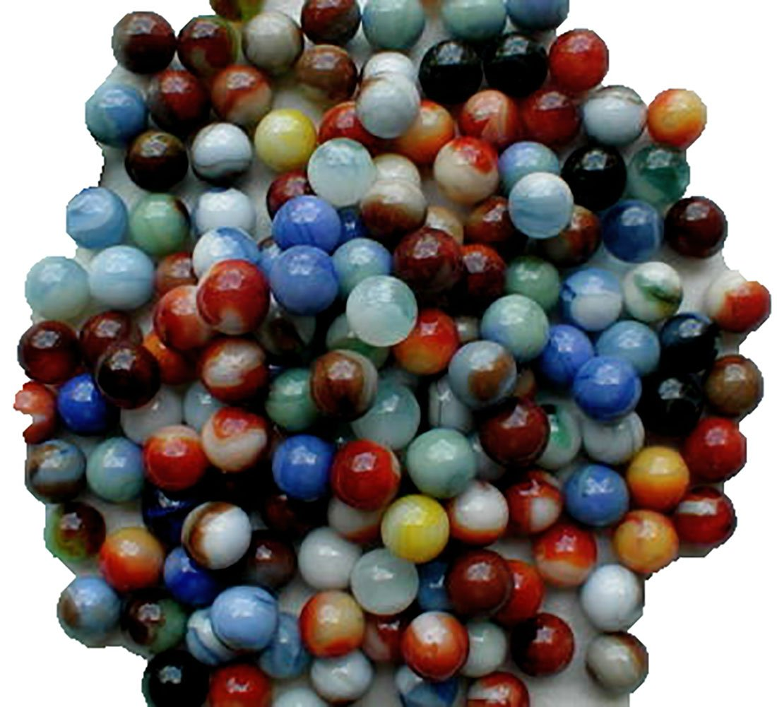 """Unique & Custom {5/8'' Inch} Set of Approx 1000 Small """"Round"""" Opaque Marbles Made of Glass for Filling Vases, Games & Decor w/ Multicolored Assortment [Assorted]"""