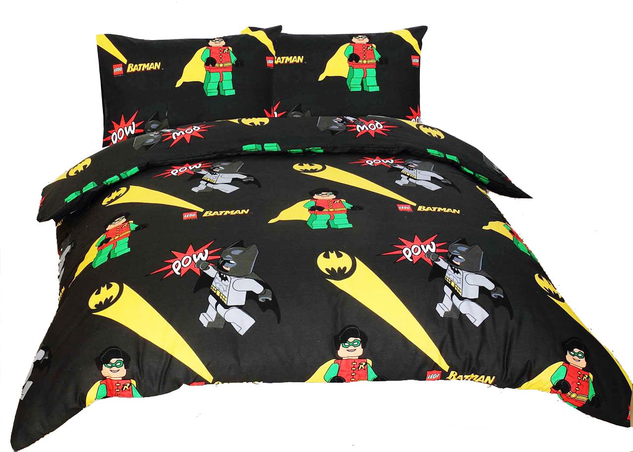 new lego batman robin double duvet quilt cover pillowcase set dc new lego batman robin double duvet quilt cover pillowcase set dc comics amazon co uk toys games