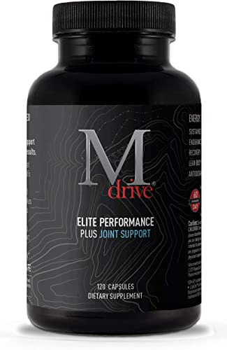 Mdrive Elite Plus Joint – Natural Energizing T Support Joint Health for Energy, Cardio, Recovery, Stress Relief with KSM 66 Ashwagandha, Cordyceps, DIM, Fenugreek, Chromax, Fruite X-B, 120ct