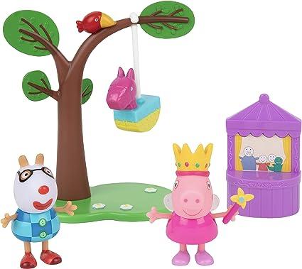 Peppa Pig Juego De Fiesta De Cumpleaños 5 Piezas Incluye Figuras De Peppa Pedro Piñata Espectáculo De Marionetas Y árbol A Partir De 2 Años Toys Games
