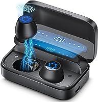 ワイヤレスイヤホン Bluetooth 最新bluetooth 5.0技術+EDRが搭載 HiFi CVC8.0ノイズキャンセリング/AAC対応 タッチ式 IPX7防水 LEDディスプレイ電量表示