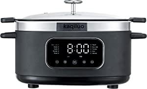 Kaqiluo 12-In-1 Touch Screen Programmable Multi-Function Slow Cooker, With Delay Timer, Rice Cooker, Frying Pan, Wok, Boiling, Steamer, Stew Pot, Hot Pot, Yogurt Maker, Vacuum Slow Cooker
