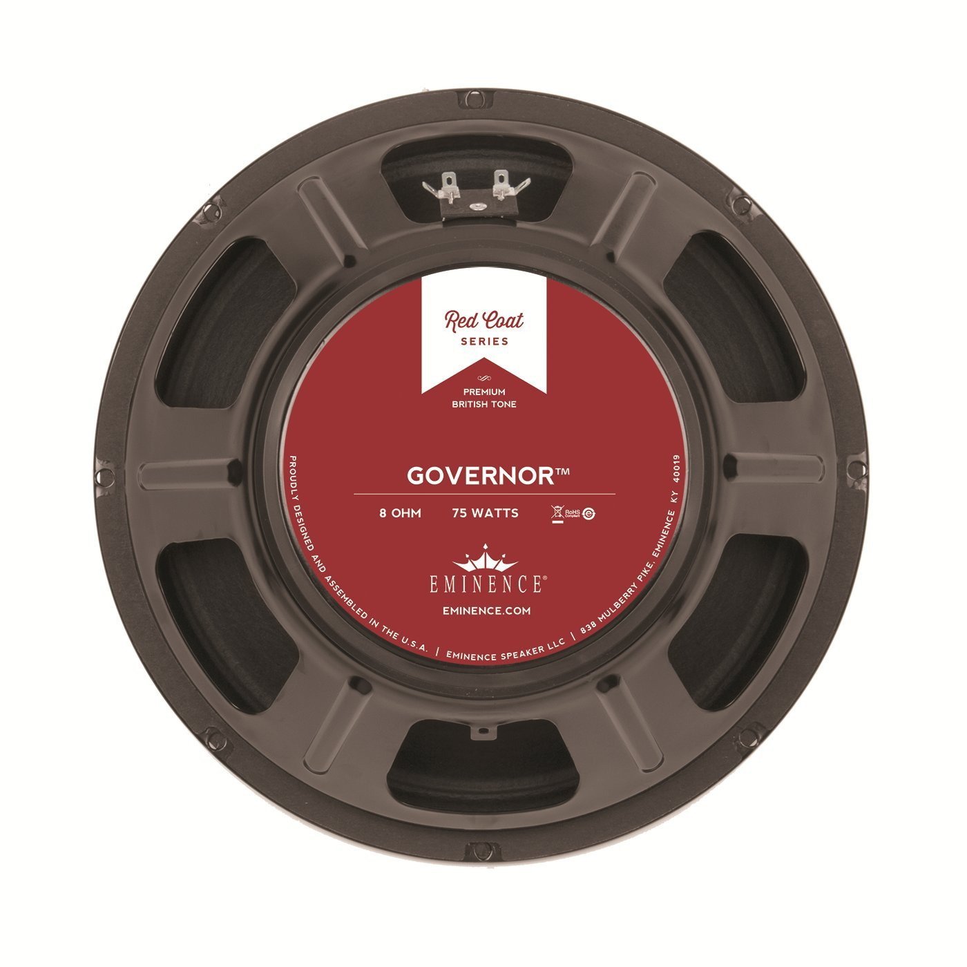 Eminence Red Coat Series The Governor 12'' Guitar Speaker, 75 Watts at 8 Ohms
