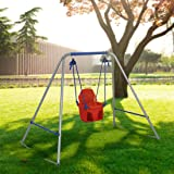 BestValue Go 4FT High Toddler Baby Swing Seat with Frame for 1 to 3