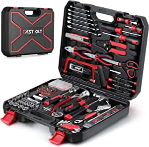 218-Piece Household Tool kit,Auto Repair Tool Set, EASTVOLT Tool kits for Homeowner, General Household Hand Tool Set with Hammer, Plier, Screwdriver Set, Socket Kit, with Carrying Tool Box, EVHT21801
