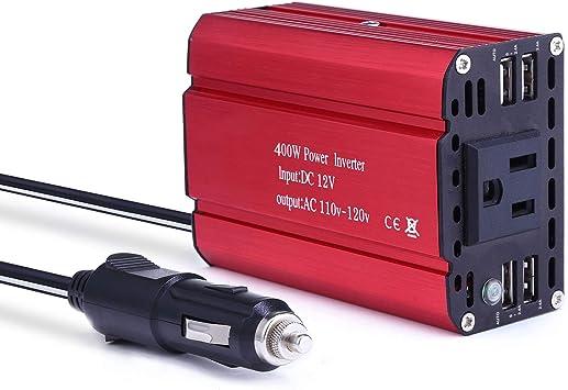 POTEK 5000W Power Inverter 4 AC Outlets 12V DC to 110V AC Car Inverter 2USB Port