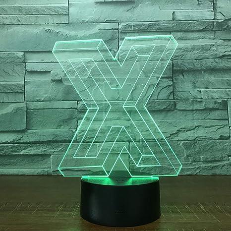 Forma X de la letra X ilusión 3D Control remoto USB Touch Alta ...