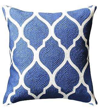 Amazon.com: livebycare bordado patrón geométrico funda de ...