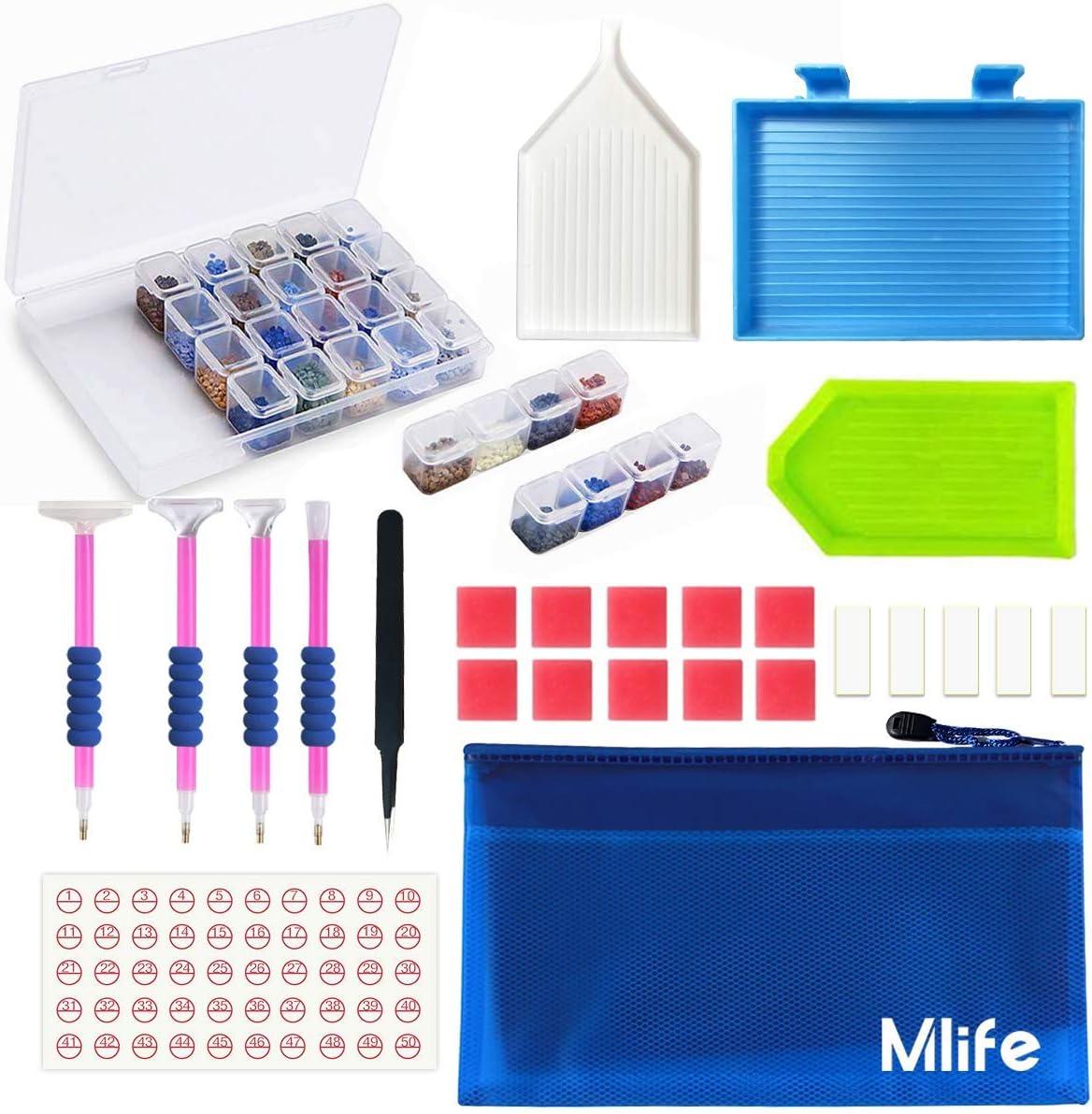 Kit de pintura de diamante JUSONEY 5D: paquete de accesorios de pintura de diamante DIY económico y práctico de 31 piezas