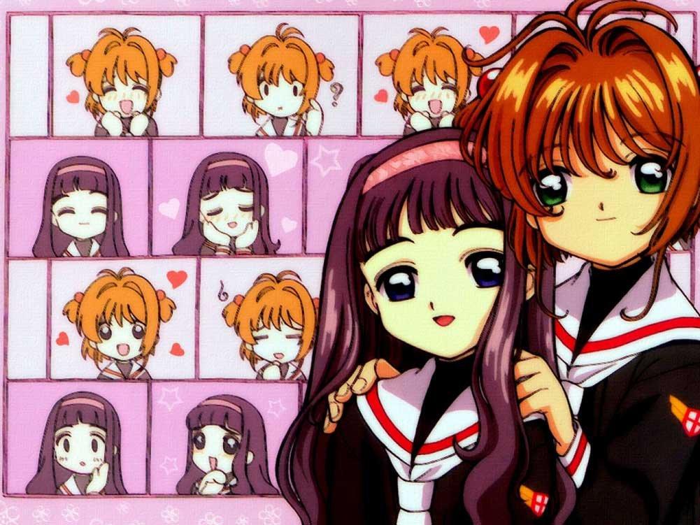 Sakura Kinomoto, Tomoyo Daidouji, anime, manga, clamp, cardcaptor sakura, card captor sakura