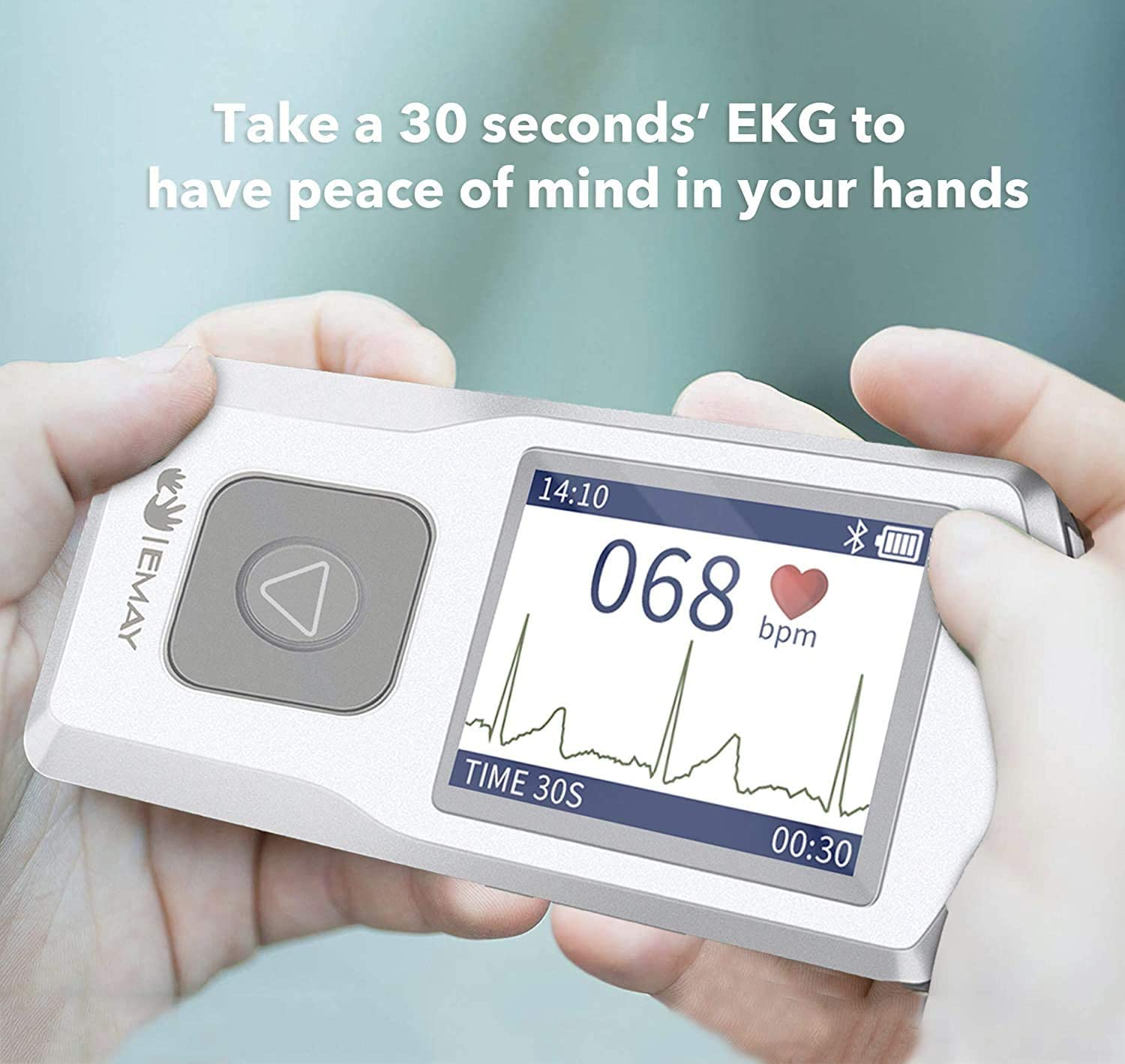 for iPhone /& Android, Mac /& Windows EMAY Portable ECG Monitor Wireless EKG Monitoring Devices to Track Heart Rate /& Rhythm for Heart Performance