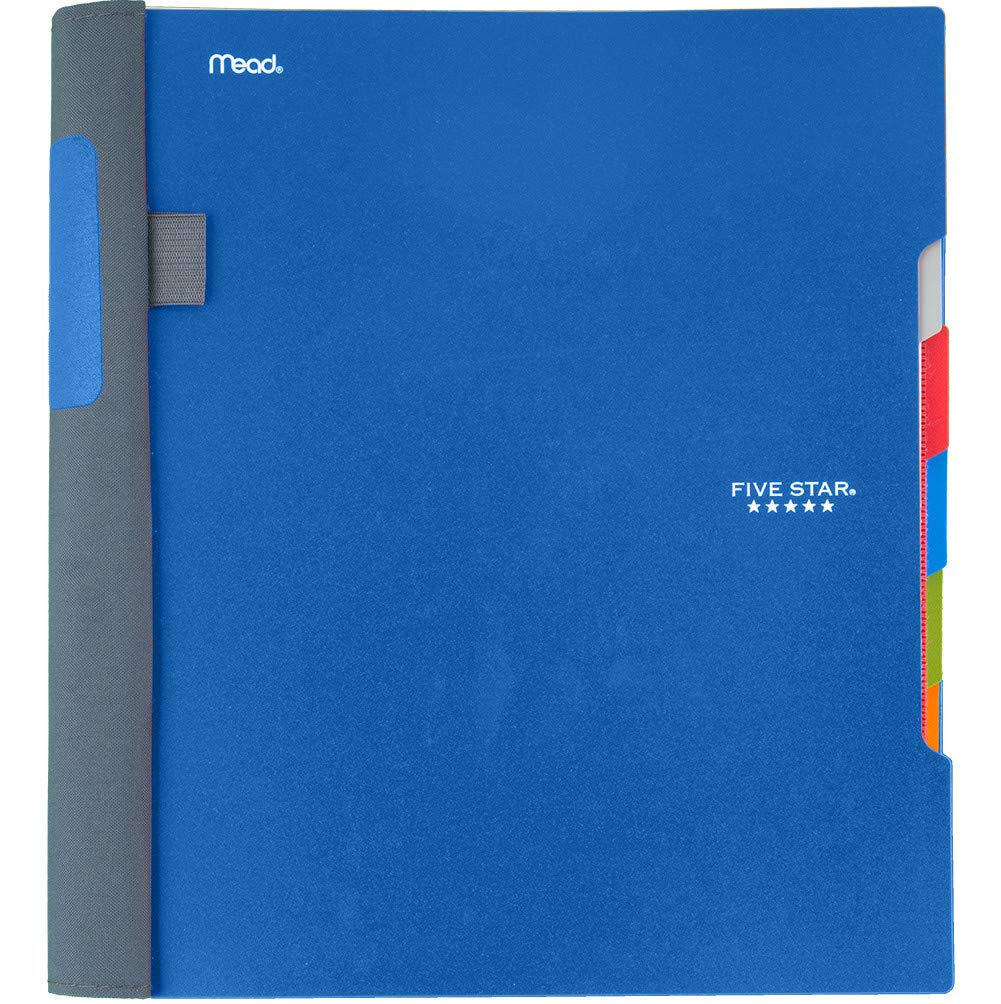 Five Star Advance Spiral Notebook, 5 Subject, College Ruled Paper, 200 Sheets, 11'' x 8-1/2'', Blue (73150)