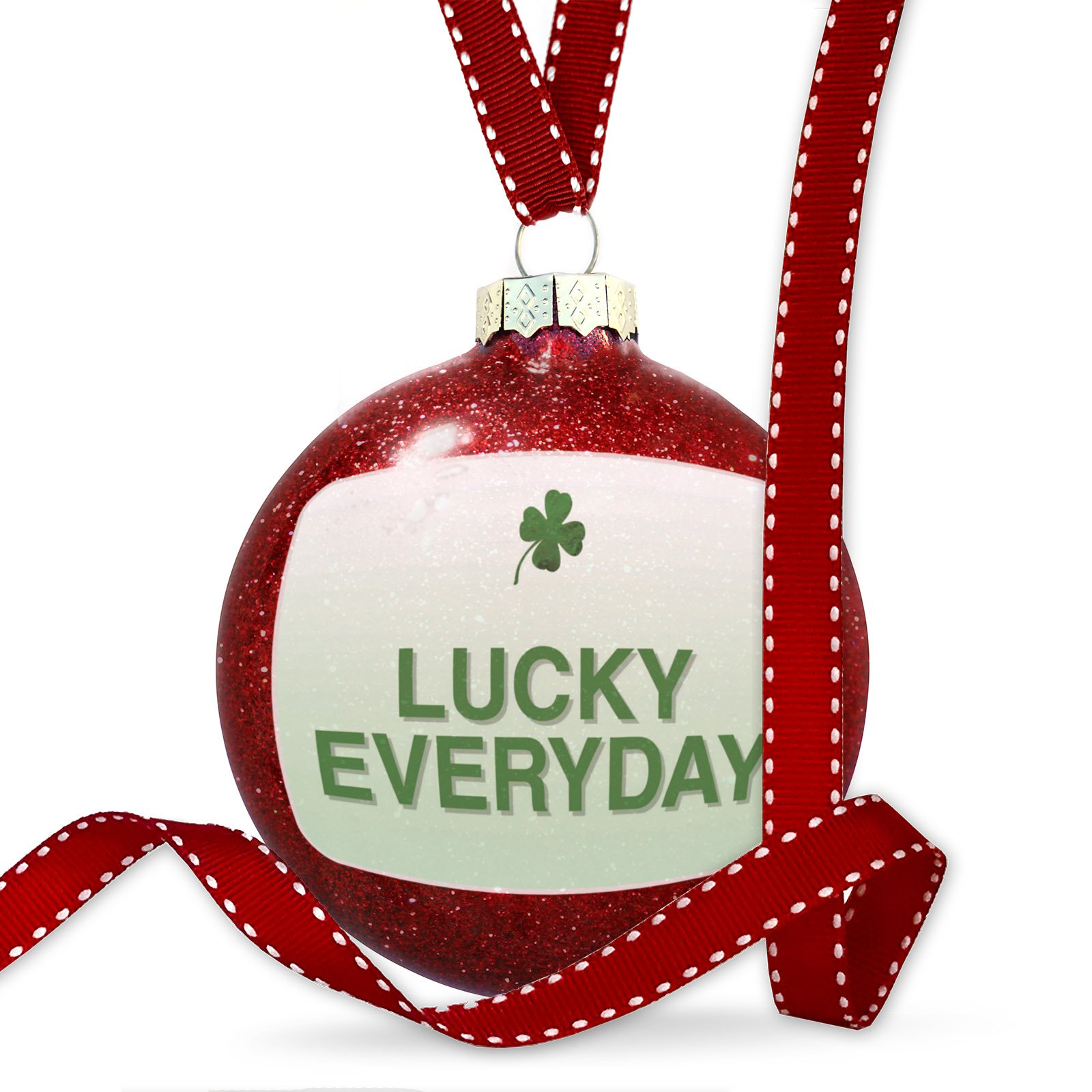 Christmas Decoration Lucky Everyday St. Patrick's Day Clover Fade Ornament